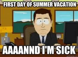 ziek tijdens vakantie